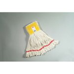 White, Small Cotton/Synthetic Web Foot Wet Mops-5-in Yellow Headband