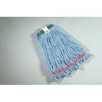 Blue, Medium Cotton/Synthetic Shrinkless Web Foot Wet Mop Heads