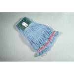 Blue, Medium Cotton/Synthetic Shrinkless Web Foot Wet Mop Head