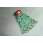 Green, Large Cotton/Synthetic Shrinkless Web Foot Wet Mop Head