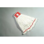 White, Large Cotton/Synthetic Shrinkless Web Foot Wet Mop Head