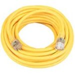 50 Foot Yellow Lighted End Extension Cord