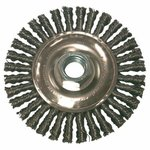 "4"" Carbon Steel Stringer Bead Wheel Brush"
