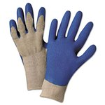Blue Latex Palm Premium Grey Knit Gloves