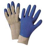 Blue Latex Palm Premium Grey Knit Gloves