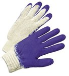Men's White/Blue Latex Coated Gloves
