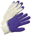Men's White/Blue Latex Coated Gloves