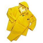 Large 35 Mil 3 Piece PVC/Polyester Rain Suit