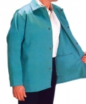 "30"" Visual Green Cotton Sateen Jackets"