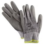 Size 8 Hyflex Light Duty Cut Resistant Gloves Gray