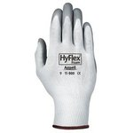 White/Gray HyFlex Foam Ultra Lightweight Assembly Gloves, Size 7