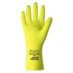 Large Yellow Natural Rubber Latex Gloves