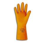 "13"" 30 MIL Extra Large Orange Natural Rubber Latex Gloves"