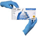 TNT Blue Disposable Gloves, Medium