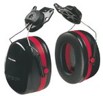 Black/Red Peltor Dual Cup Optime 105 Earmuffs
