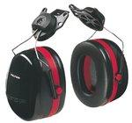 Black/Red Peltor Dual Cup Optime 105 Earmuffs