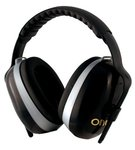 26 dB H70 Onyx Earmuffs w/Black Headband