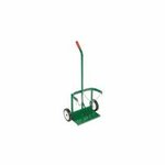 Green Dual-Cylinder Cart w/ Reinforced Frame