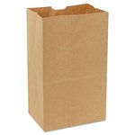Brown Kraft, 500 Count 57 Pound Base Weight 20# Paper Bag- 8.25 x 15.875