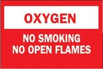 No Smoking No Open Flames Chemical & Hazardous Material Signs