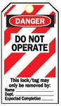 "Heavy Duty ""Do Not Operate"" Lockout Tag"