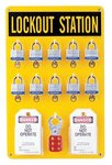 Ten Lock Station W/Locks-Tags- Lockouts