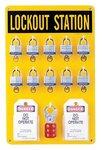 Ten Lock Station W/Locks-Tags- Lockouts