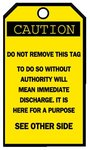 "3-1/4""X5-5/8"" Blank Accident Prevention ""Caution"" Tags"