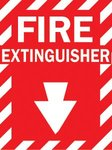 "Health & Safety ""Fire Extinguisher"" Sign"