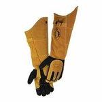 """21"""" Tan/Black Deerskin Welder's Gloves"""