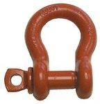 "5/8"" Orange Painted Screw Pin Anchor Shackles"