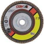 "4.5"" Type 29 5/8""-11 Arbor Thread Zirconia Abrasive Flap Disc w/ 40 Grit"