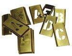 3'' Single Panel Brass Stencil Letter Set, 33 Piece