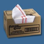 White/Red, Food Service Towels-13.50 x 24