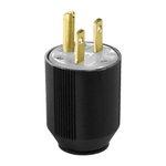 15 Amp Black Auto Grip Plug
