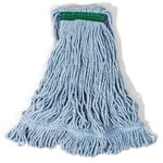Blue, Medium Cotton/Synthetic Super Stitch Blend Mop Heads