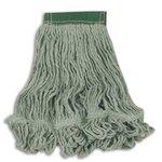 Green, Medium Cotton/Synthetic Super Stitch Blend Mop Heads