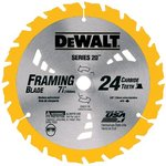"7-1/4"" 24 Teeth Combination Circular Saw Blade"
