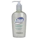 Liquid, Dial Antimicrobial with Moisturizers and Vitamin E in Decorative Pump-7.5-oz