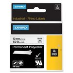 "1/2"" White Rhino Permanent Poly Labels"