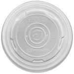 Laminated Soup Container Lids, White, 8oz