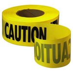 Grade Caution Yellow Tape With Black Print