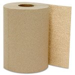Natural, 1-Ply Hardwound Roll Towels- 8-in x 800-ft.