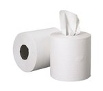 Center-Pull Roll Towels, 2-Ply, White, 6 Rolls