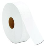 White, 1 Ply JRT Jumbo Bath Tissue- 12-in Diameter