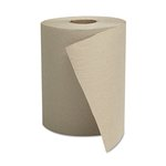 Natural, 1-Ply Hardwound Roll Towels-8-in x 600-ft.