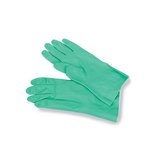 Nitrile Flock Lined Gloves, Medium, Green, 12 Pairs of Gloves