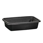 32 oz Microwave Safe Black Plastic Container