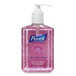 Pink, Spring Bloom Instant Hand Sanitizer Pump Bottle-8-oz