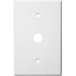 1 Gang Cable Wall Plate-White
